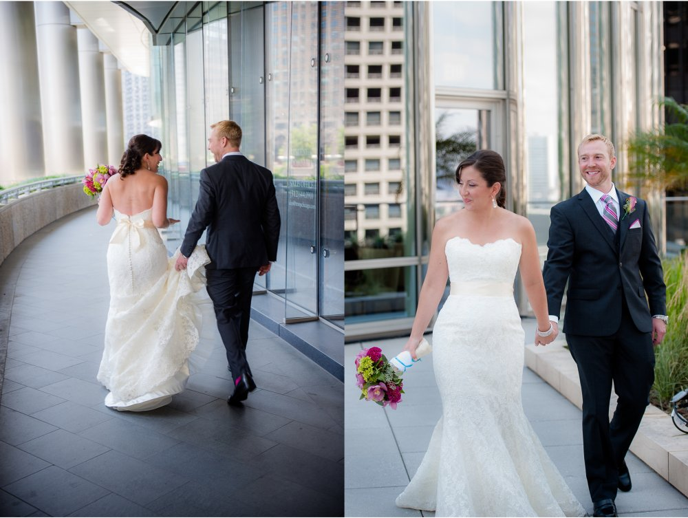 Wedding portrait by trump tower.