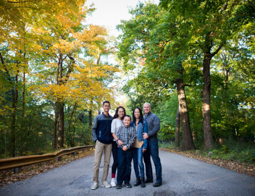 Family Session in Chippewa Woods Forest Preserve