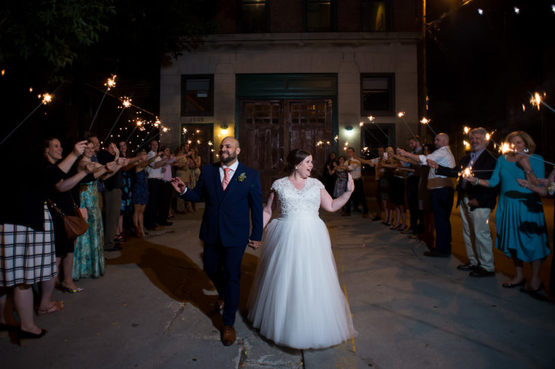 chicago-firehouse-wedding-sparkler-exit