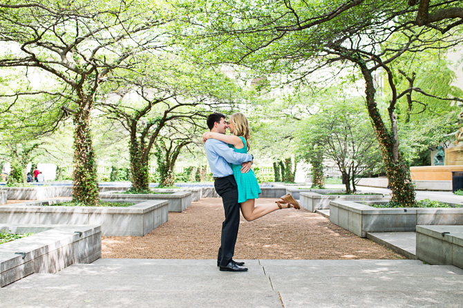 Engagement session at The Art Institute of Chicago