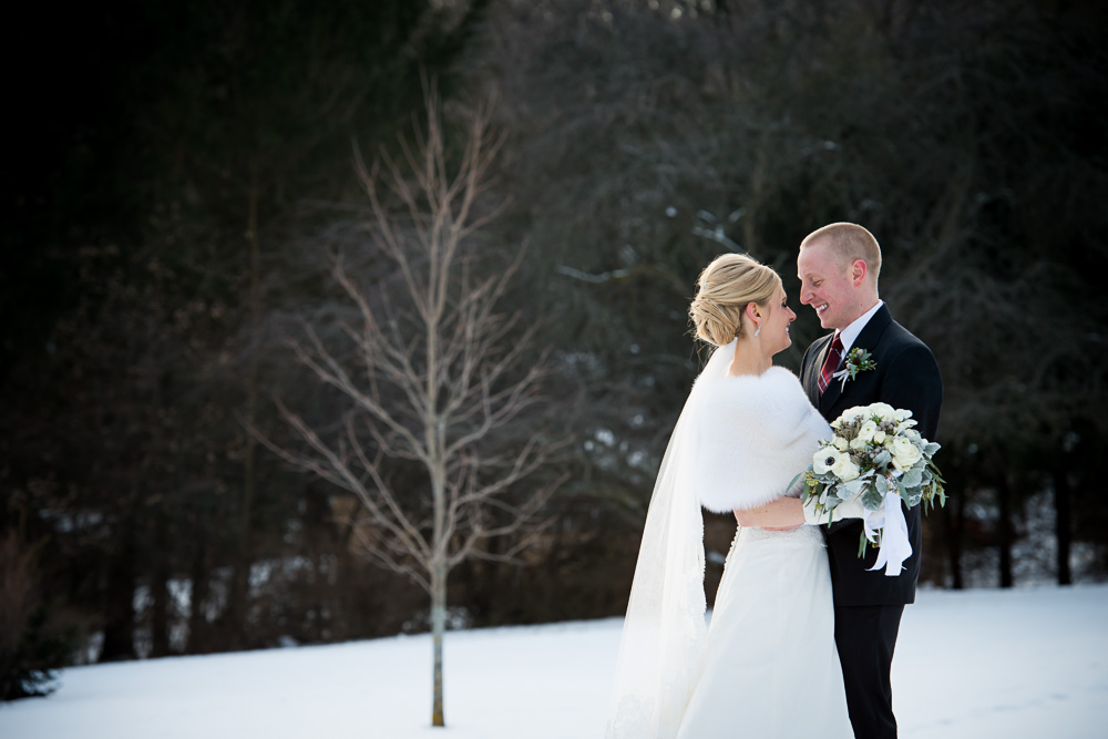 Beautiful Rochester wedding in the Winter.