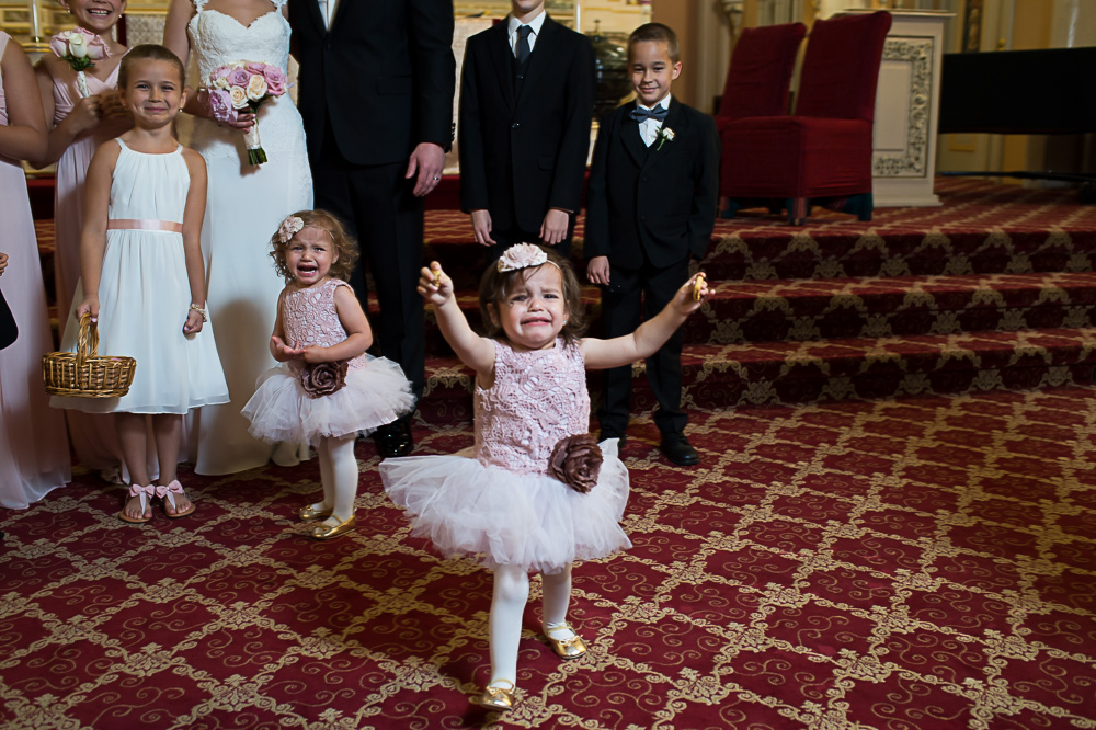 Extremely adorable children at the wedding.