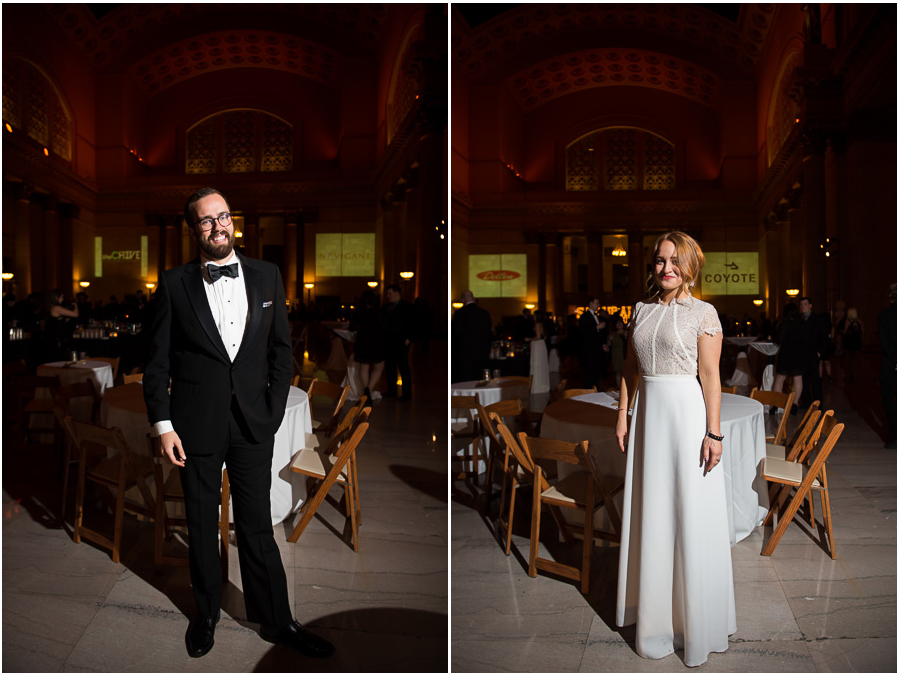 Photos of a beautiful couple attending the 27th annual Snowball Fundraiser in Chicago.