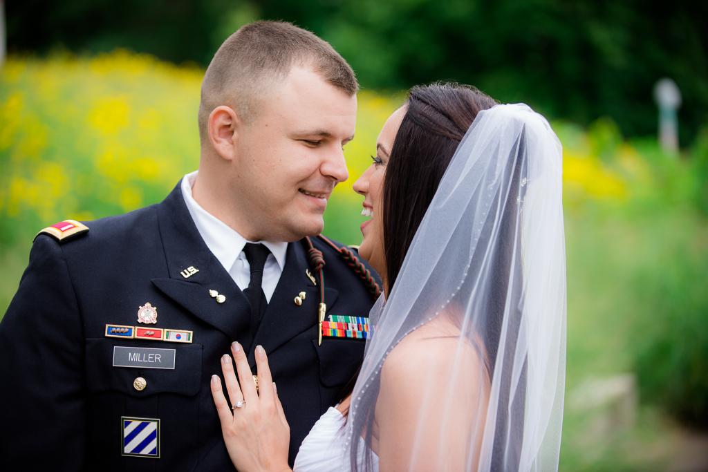 Happy bride and groom.