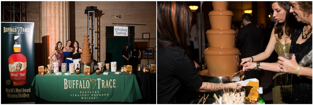 Vendors at the event, here: Buffalo Trace.