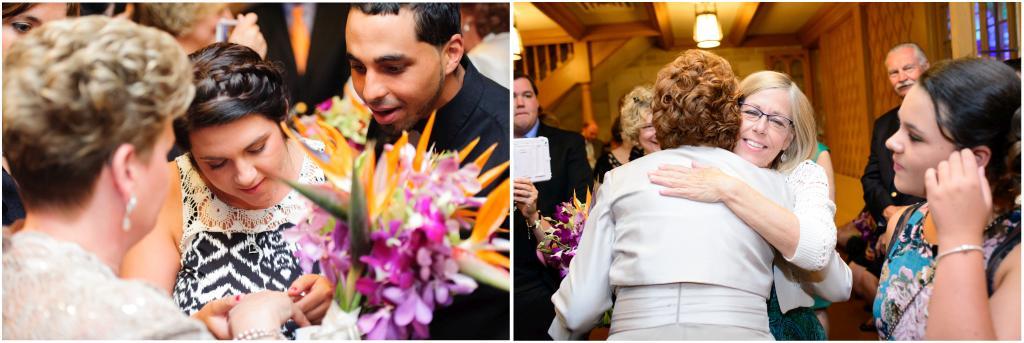 Wedding at Northwestern University's Alice Millar Chapel.