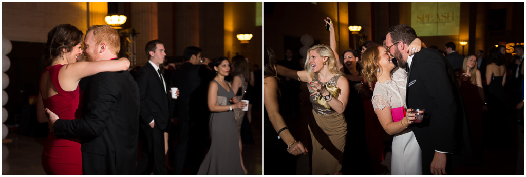 More dancing in Union Station's Great Hall during 2015 Snowball Fundraiser. Chicago.